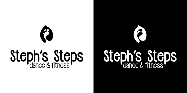 2017-Steph's-Steps-Logo-Versions-BW