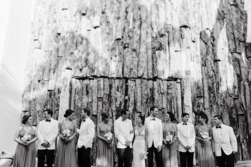 beautiful wedding party,casa malca,tulum