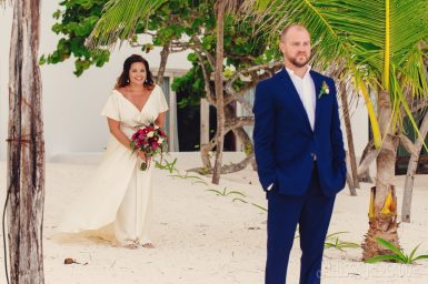 Rachel and Neil's elopement tulum