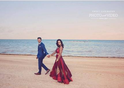 Indian couple photo session in Moon Palace Cancun