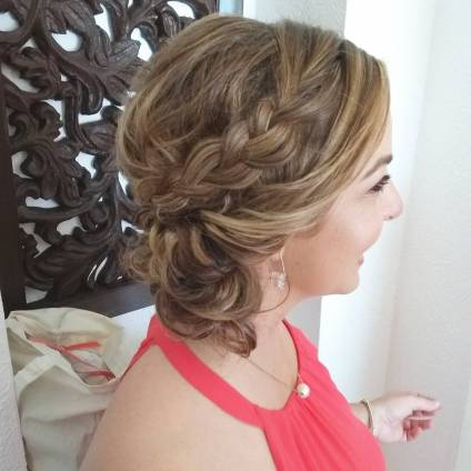 bridesmaid hair up-do