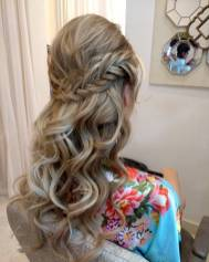 fishtail curls hairstyle