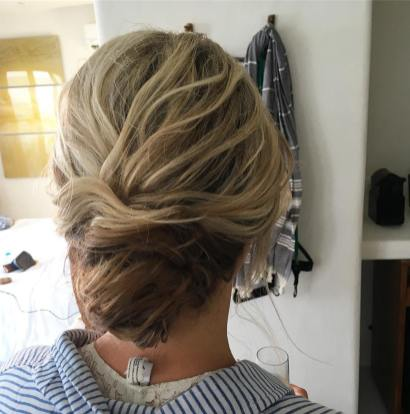 Updo for bride in Tulum