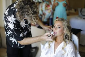Jana gets her make up by Alex, RIU palace, Playa del CArmen,Mexico