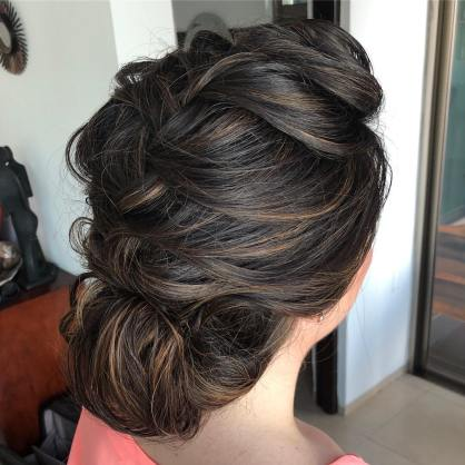 big braid hair updo