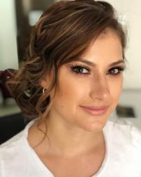bridal natural look with warm tones