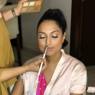 makeup for welcome night in royalton riviera cancun