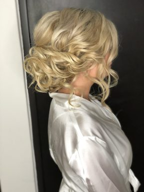 bridal updo for wedding at moon palace