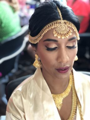 bridal beauty for indian bride at el dorado royale