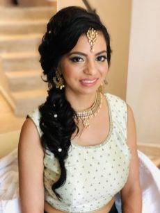 indianbride beauty for her sangeet event