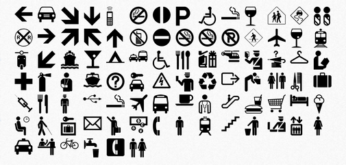 Symbols, Icons, Pictographs, and Pictograms and other art