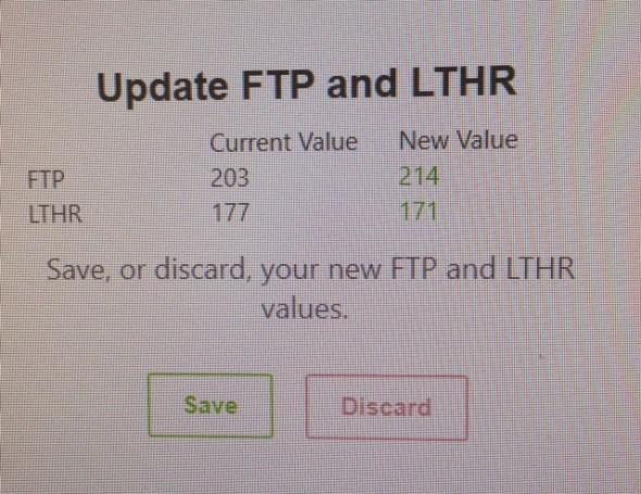 modify FTP - aumentare la FTP