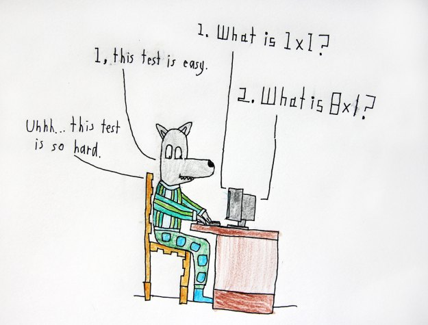 Math test, easy or hard