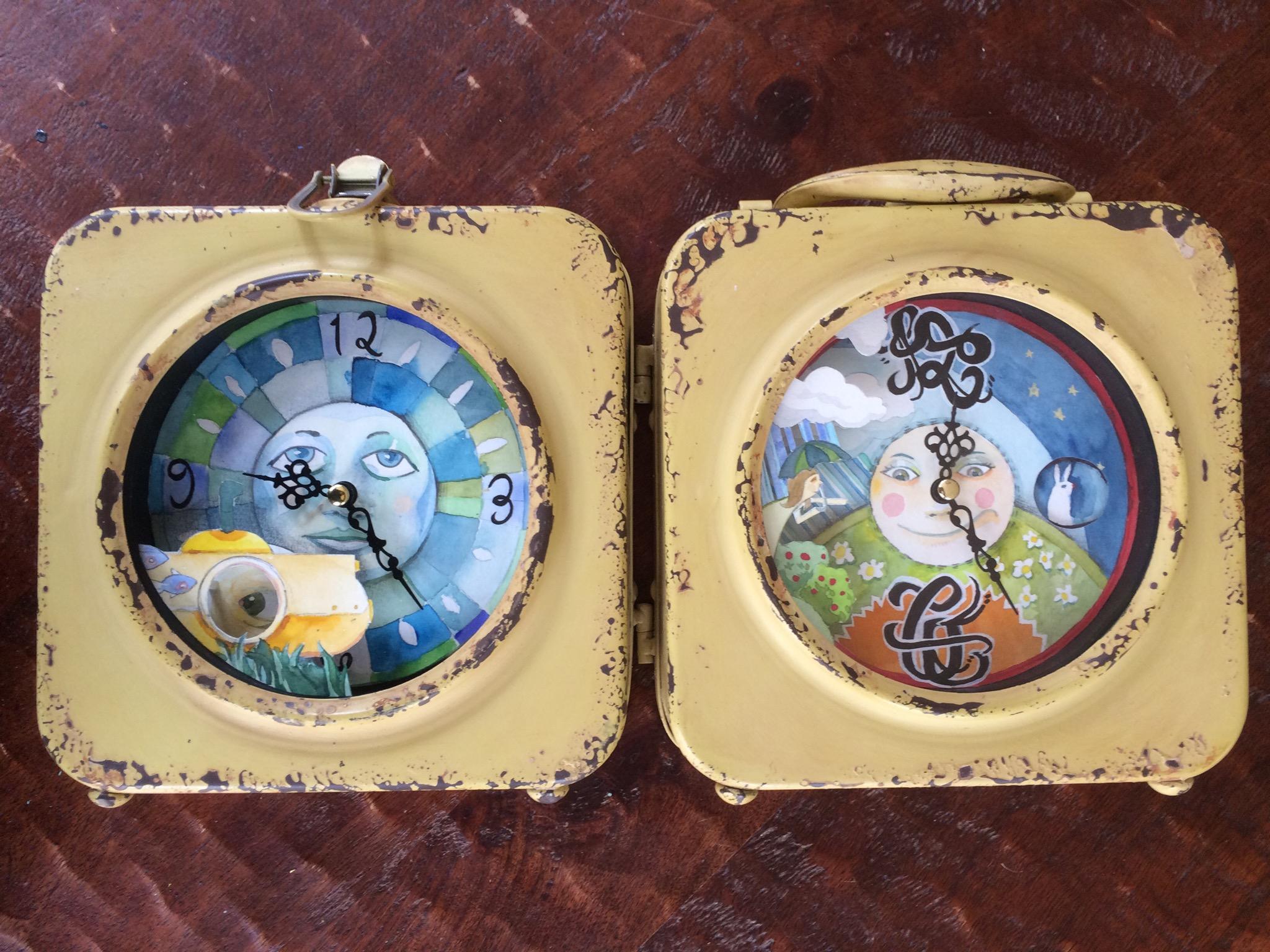 Clock? A new coast to coast lunchbox style clock.