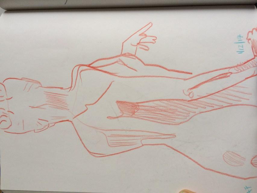 figure drawing sketch book page, alex feliciano