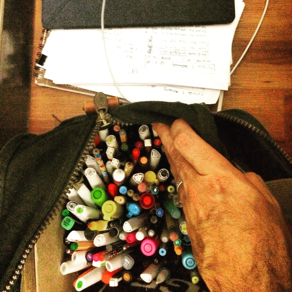 Bag of markers