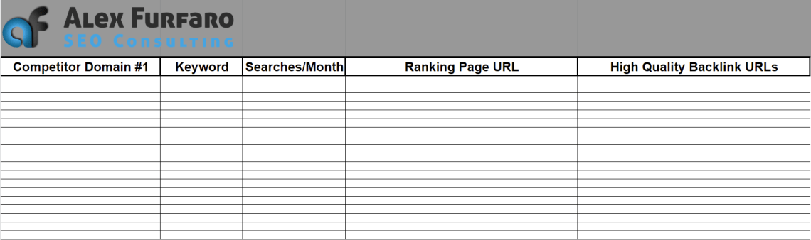 example competitor spy analysis spreadsheet