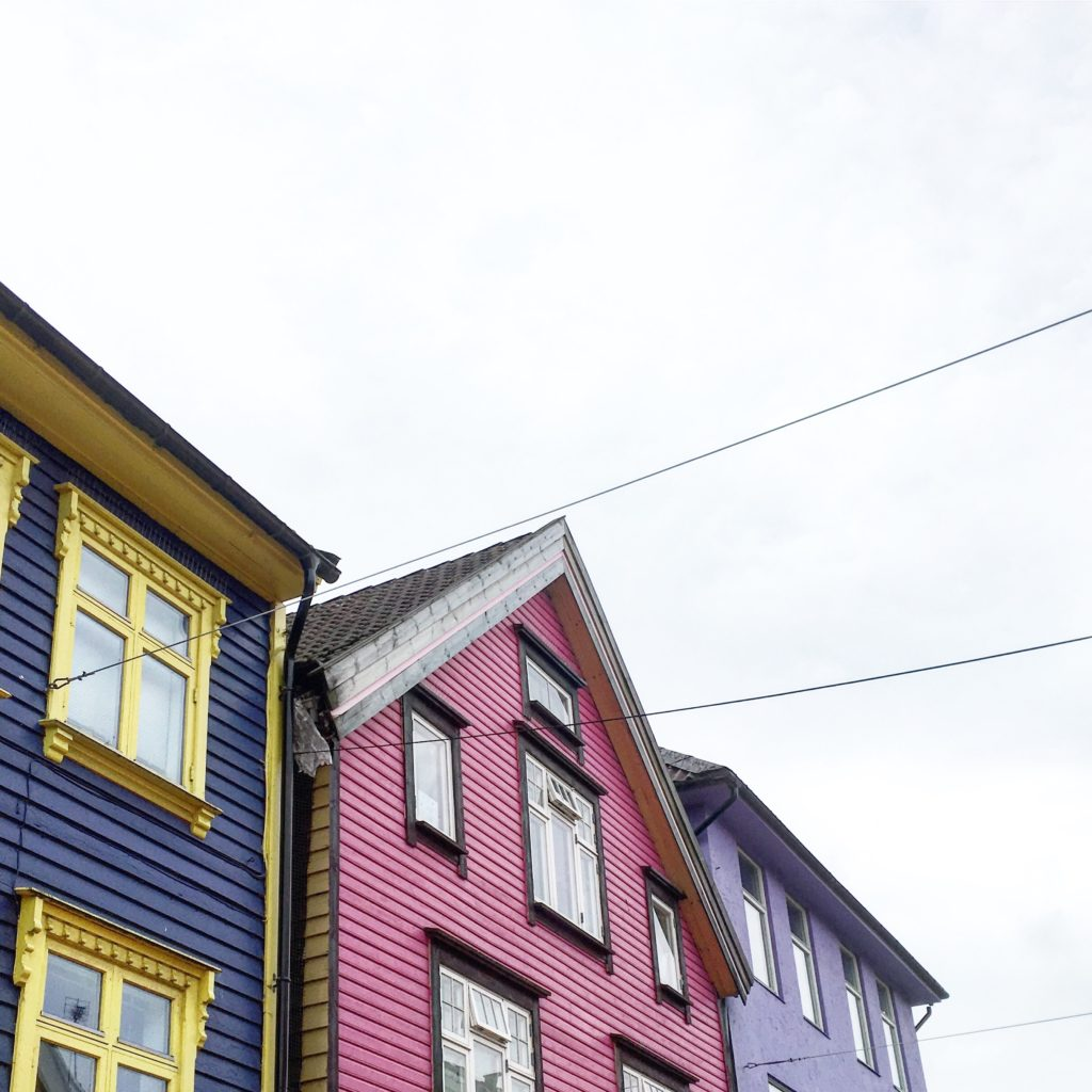colourful houses in Norway