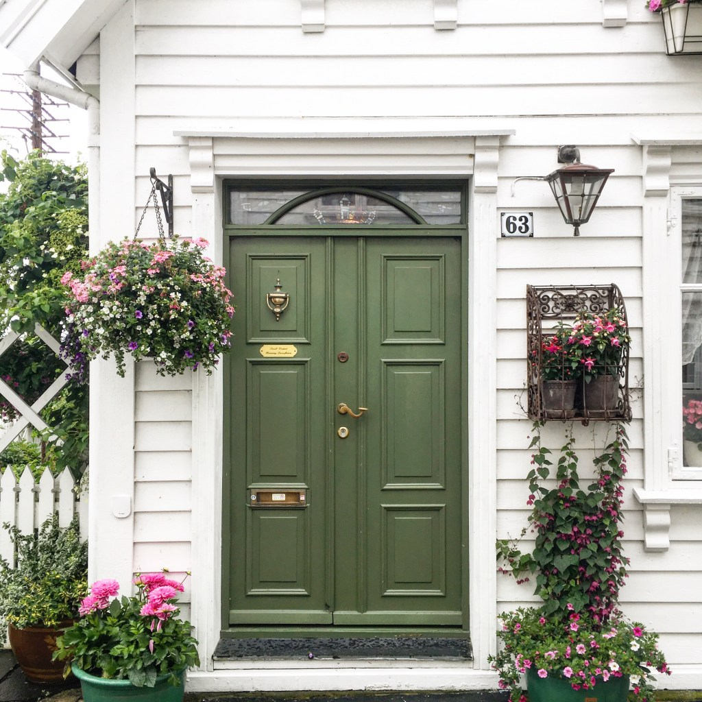 a pretty door in Stavanger Norway