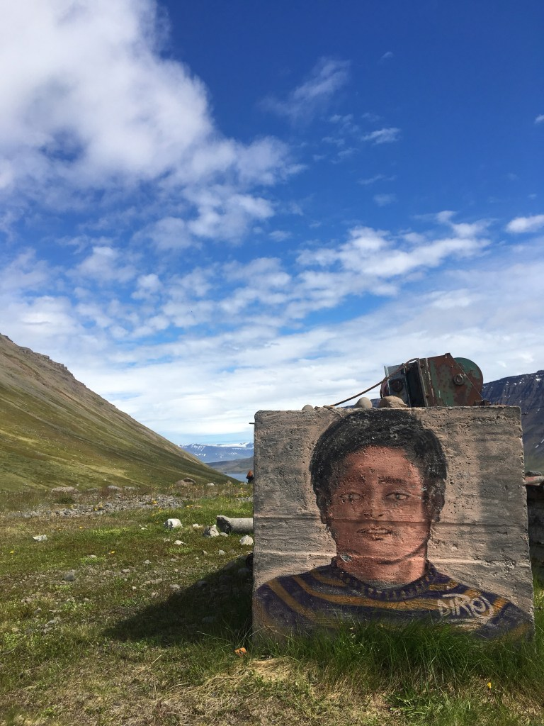 grafitti in the Westfjords