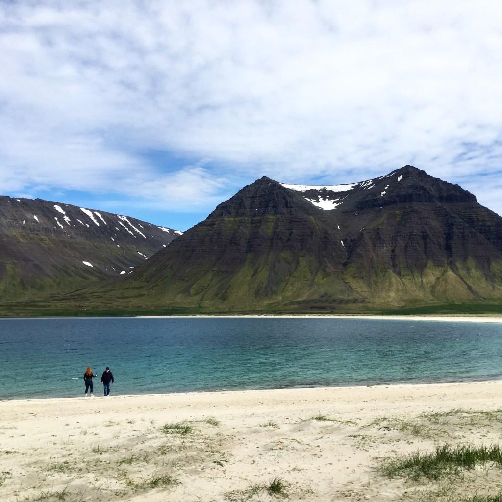 Holt beach in Summer in Iceland