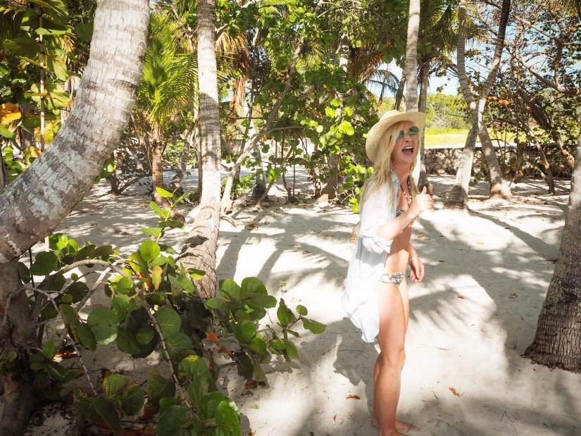 on a private island in the Dominican Republic