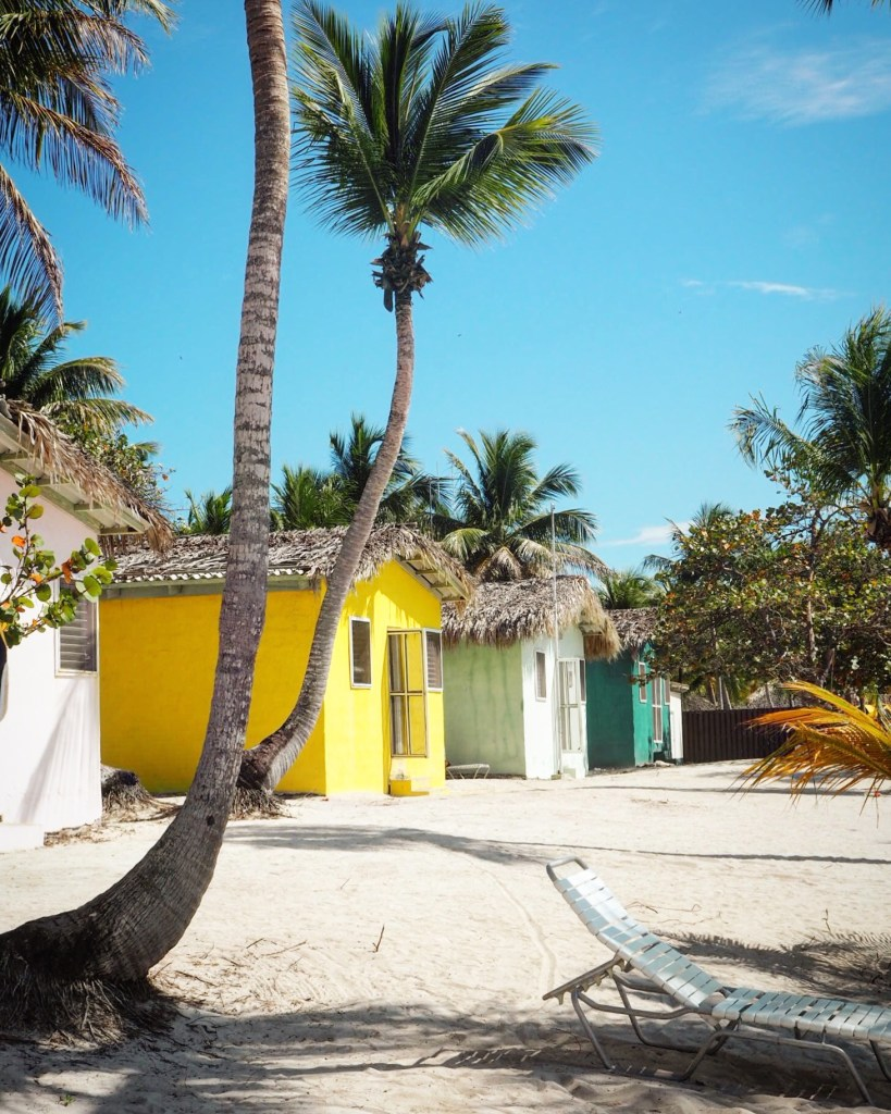 colourful huts on Catalina Island in the Dominican Republic