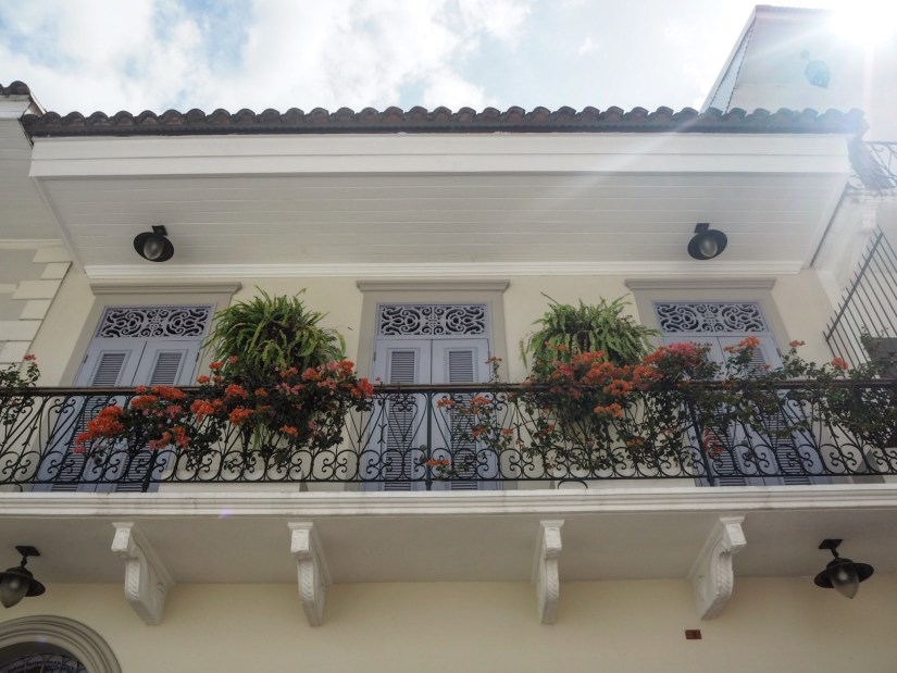 a beautiful balcony in Casco Viejo Panama City
