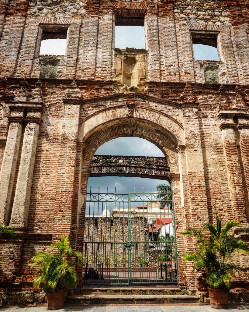 a ruin in Casco Viejo Panama City