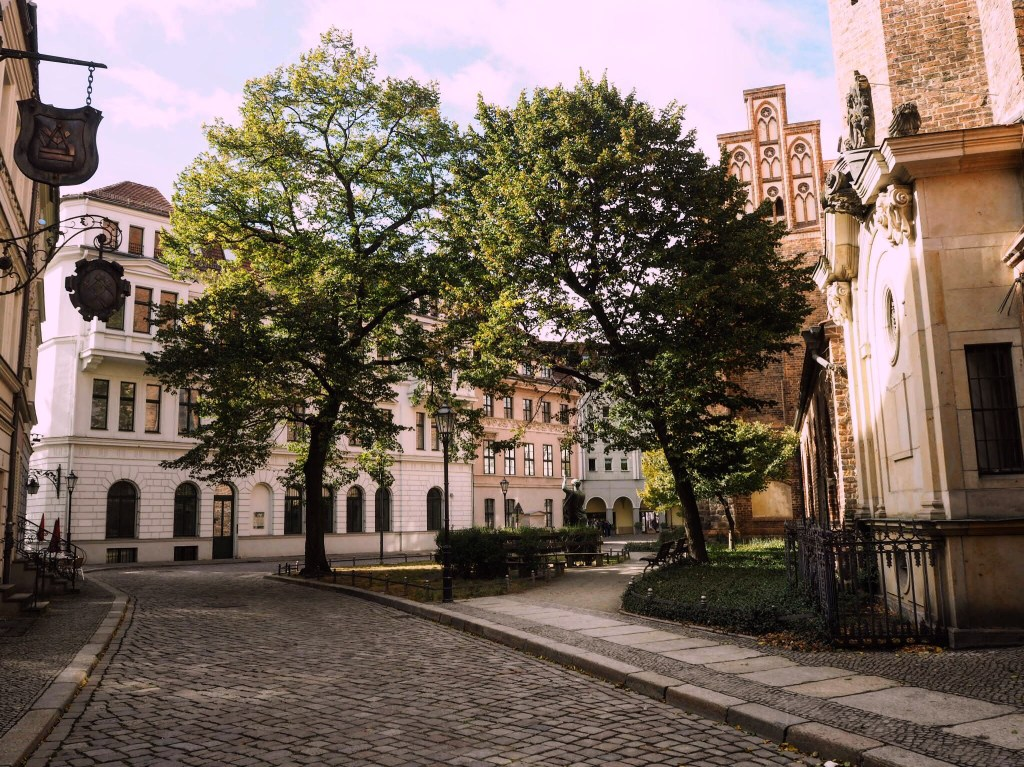 Berlin's oldest district, Nikolaiviertel- one of the best free things to do in Berlin