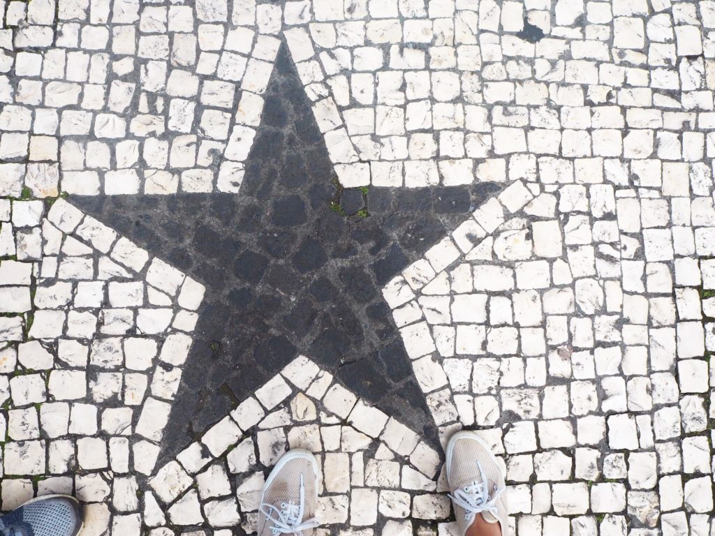 star mosaic pavement in Portugal