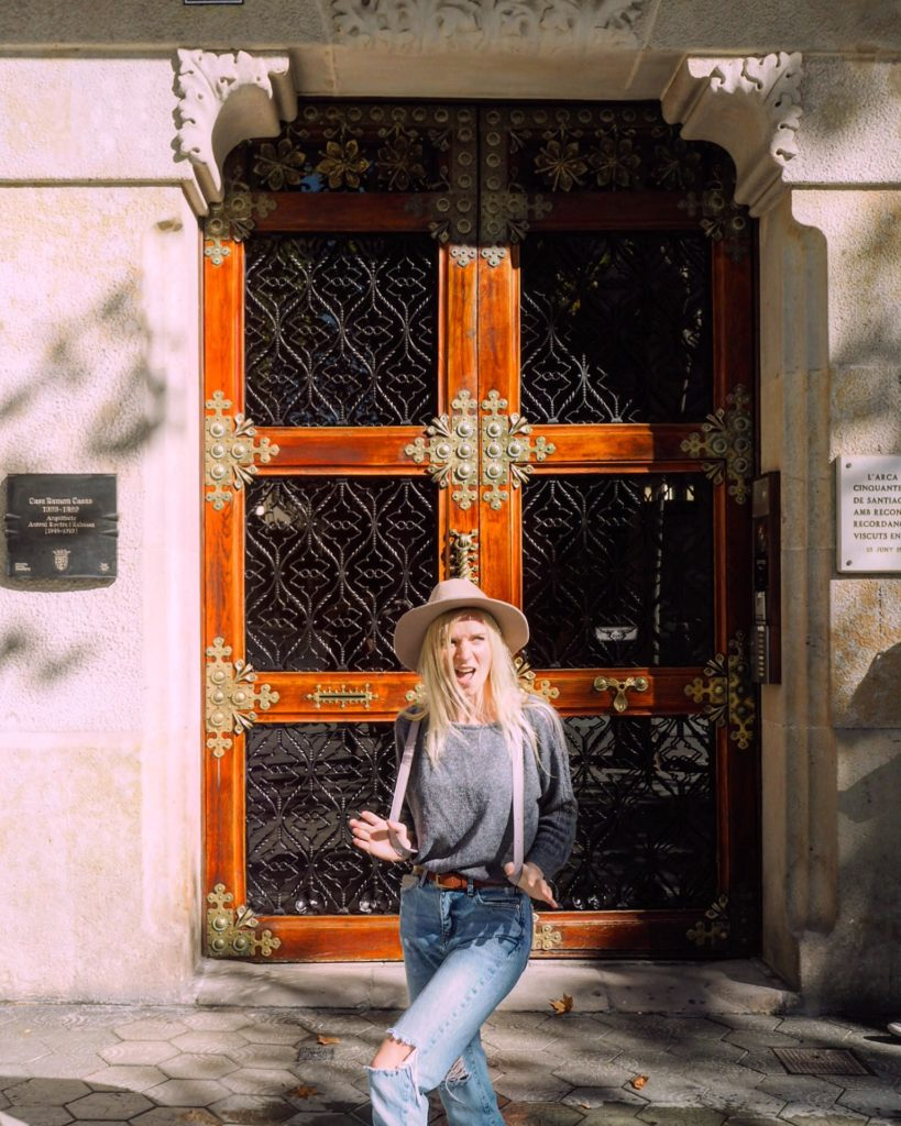 Alex Getting Lost in Barcelona featuring a beautiful door