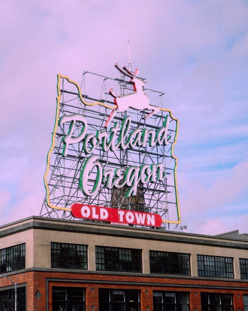 The famous Portland Oregon sign