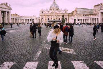 Alex Getting lost fluffy jacket Vatican