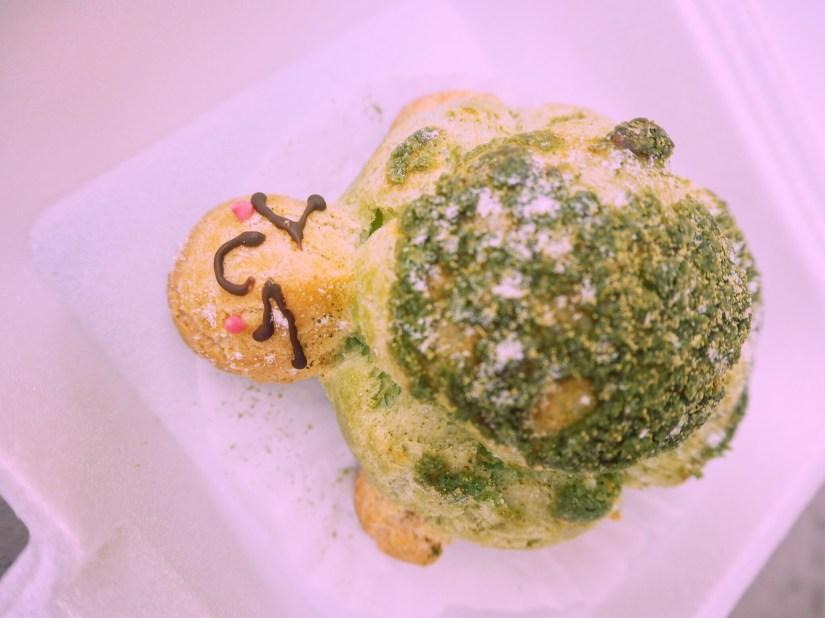green turtle pastry in Honu bakery