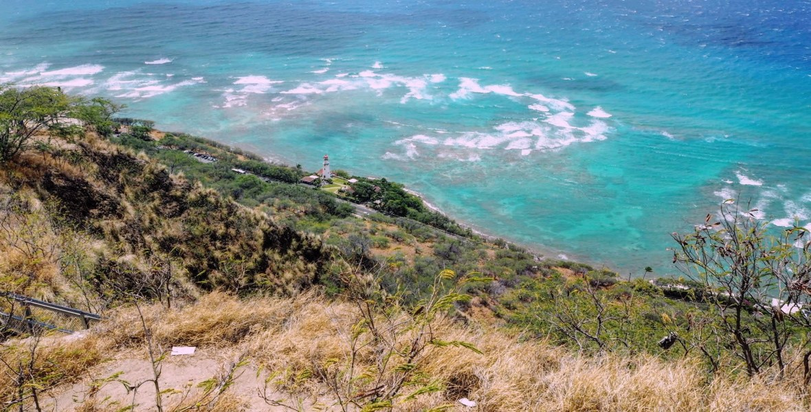 View of Diamond Head lighthouse