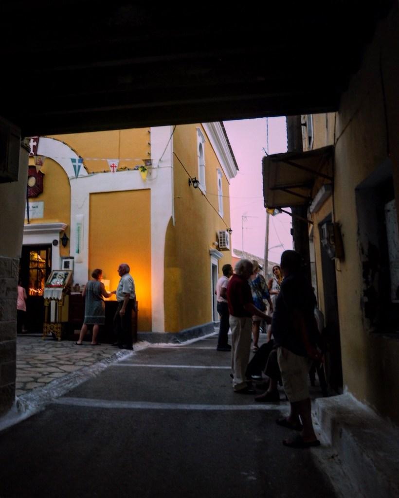 outside a Greek Orthodox Church