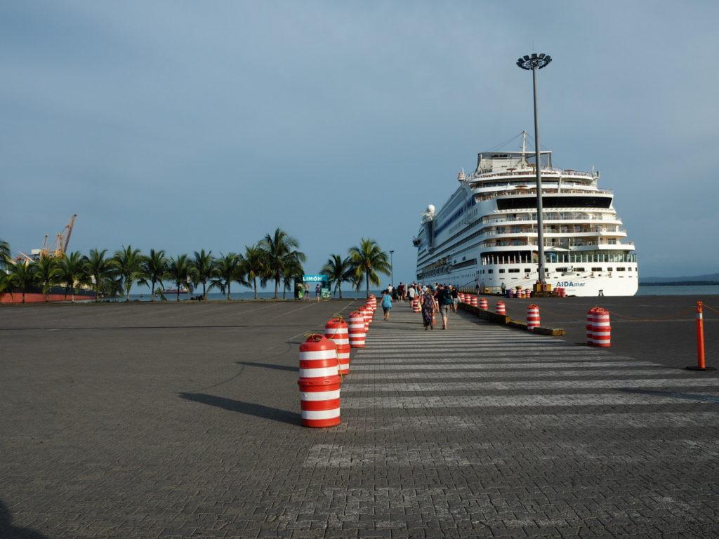 Aida Mar docked at Puerto Limón in Costa Rica