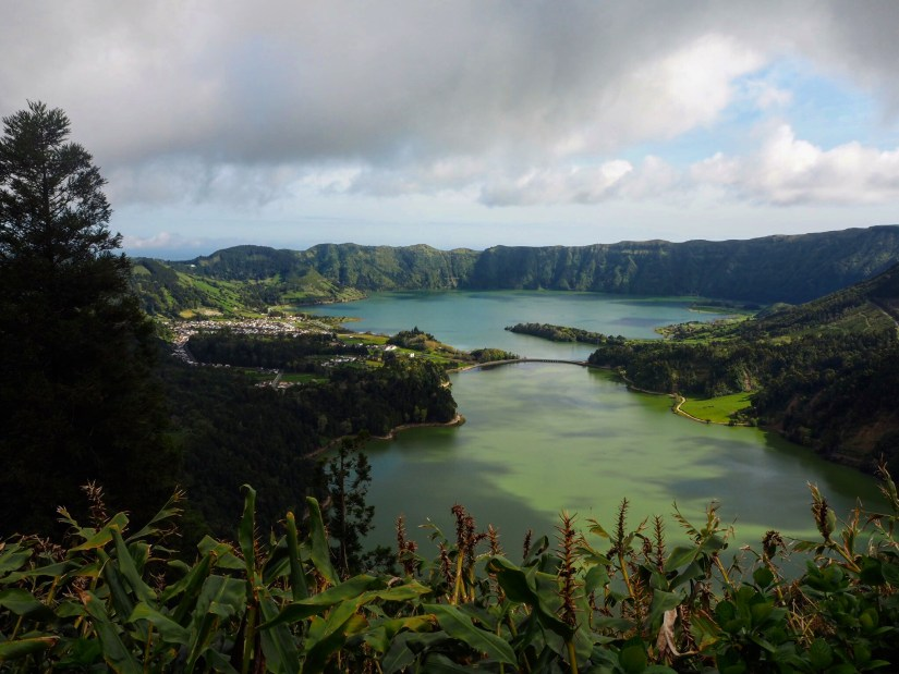sete cidades lake in The Azores