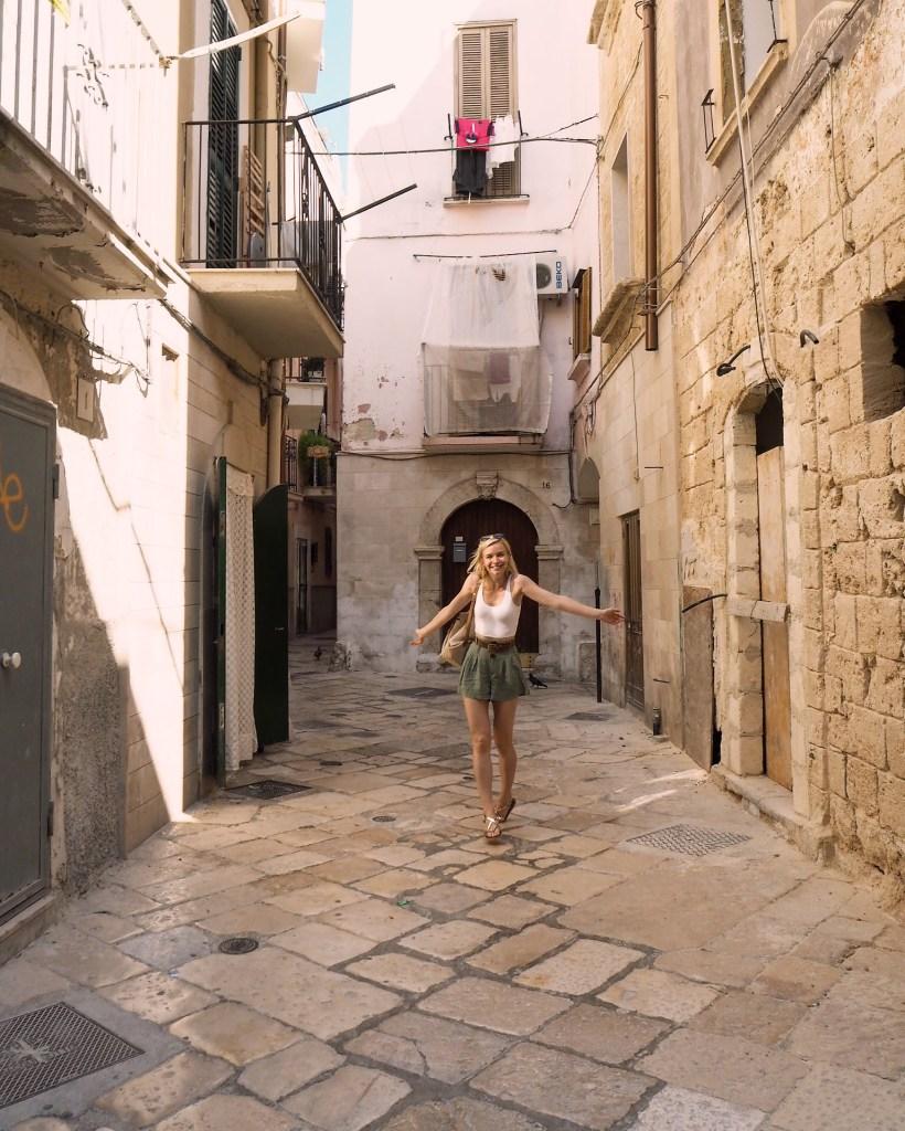 exploring Bari Vecchia in Puglia