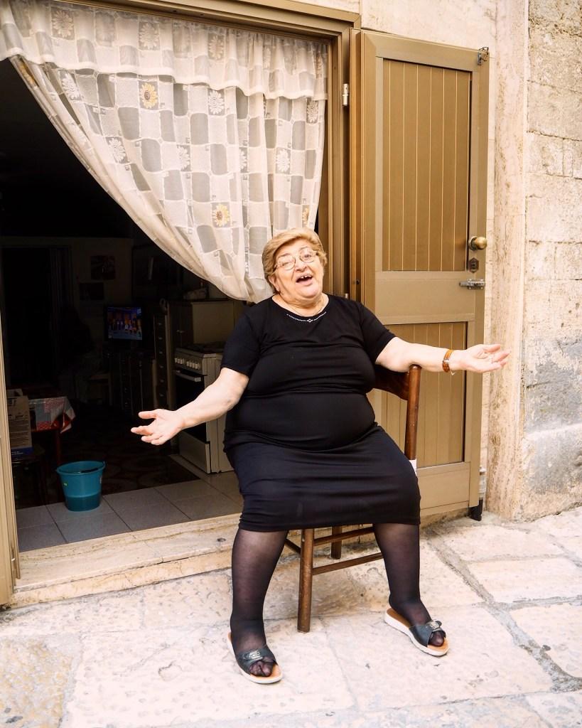 portrait of an Italian grandma