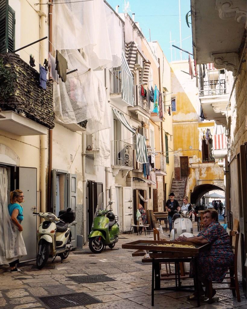 the orecchiette ladies of Bari Italy