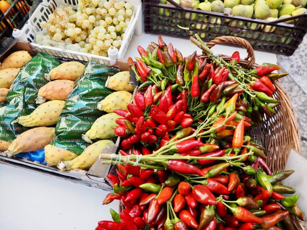 Bari food market in Bari Vecchia