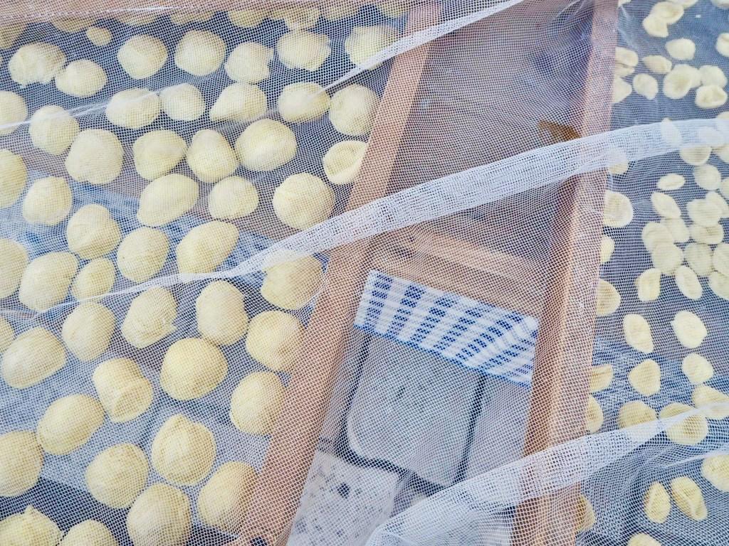 orecchiette on the streets of Bari