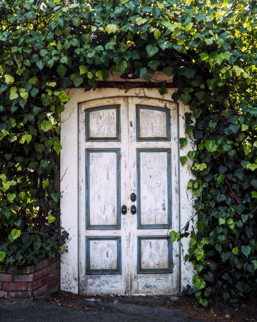 a doorway in California