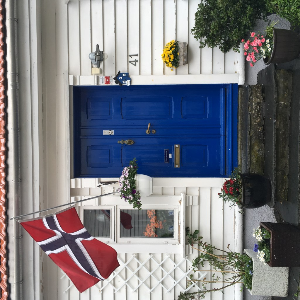 Norwegian flag in Norway