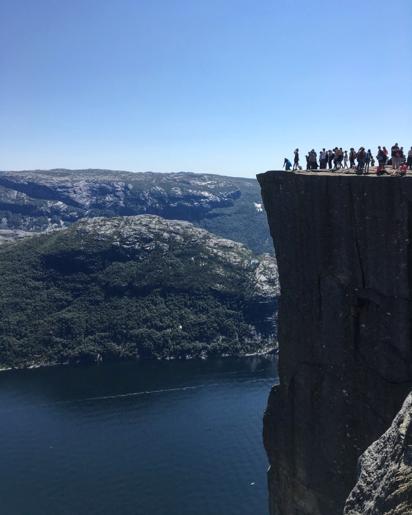 hiking preikestolen in Norway