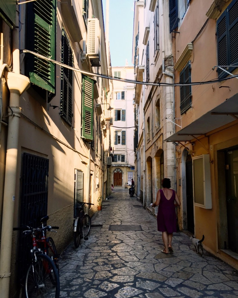 back streets of Old Town Corfu