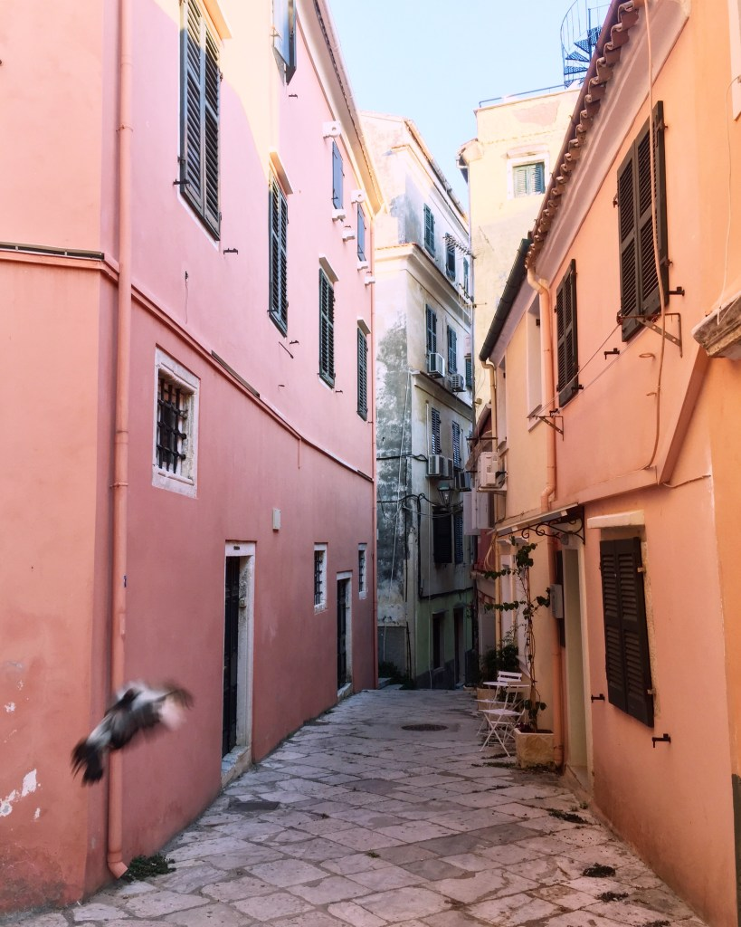 streets of Corfu Old Town