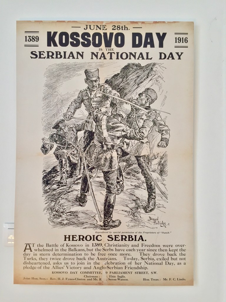 posters from the Serbian Museum in Kerkyra